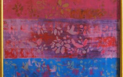 Odlot z serii 'Patchwork'; 75x75; akryl; 2010