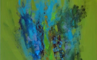 Oliwkowy gaj; 100x80; akryl ;2010