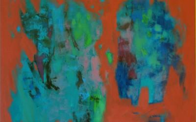 W ogrodzie o świcie; 100x80; akryl; 2010