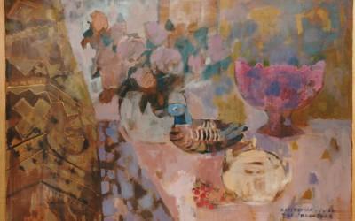 Martwa Natura z Kaczką; 80x60; akryl; 2008
