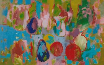 Martwa Natura z Bakłażanem; 80x60; akryl; 2008