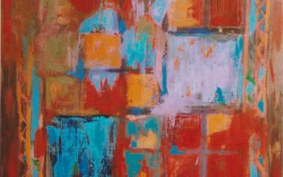 Patchwork I; 70x70; akryl; 2009