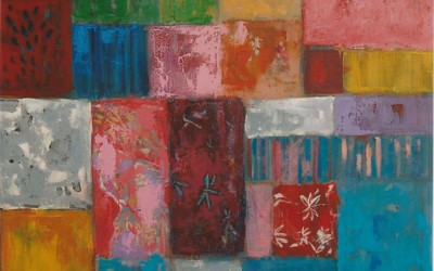 Patchwork II; 70x70; akryl; 2009