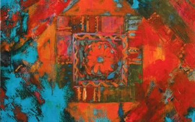 Patchwork III; 70x70; akryl; 2009