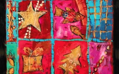 Wesołych Świąt; 70x70; akry; 2009