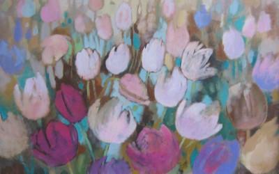 Tulipany; 60X80; akryl; 2015