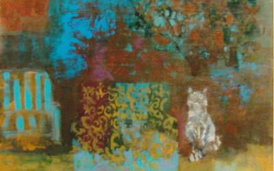 Na Werandzie II; 80x70; akryl; 2011