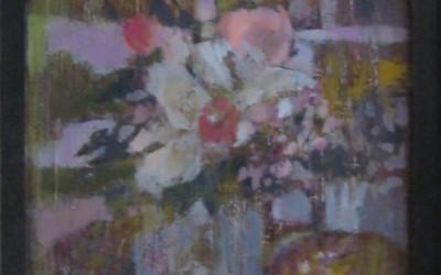 Kryształowy wazon; 42X27; akryl; 2014