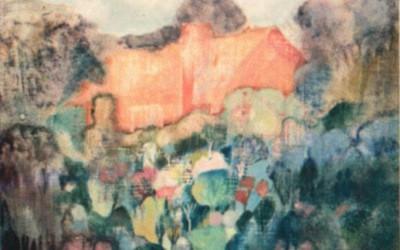 Ogród w Pszczynie; 40x40; olej; 1983